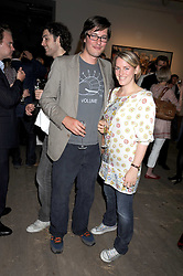 HARRY LOPES and his wife LAURA PARKER BOWLES at the Quintessentailly Summer Party at the Phillips de Pury Gallery, 9 Howick Place, London on 9th July 2008.<br />