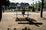 Paris. France. Le marais. 4th district. place des Vosges paris