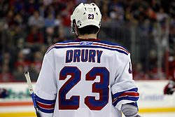 February 1, 2008; Newark, NJ, USA; New York Rangers center Chris Drury (23) during the second period at the Prudential Center in Newark, NJ.