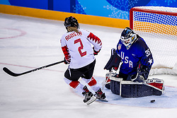 22-02-2018 KOR: Olympic Games day 13, PyeongChang<br /> Final Ice Hockey Canada - USA 2-3 / Meghan Agosta #2 of Canada, Madeline Rooney #35 of the United States