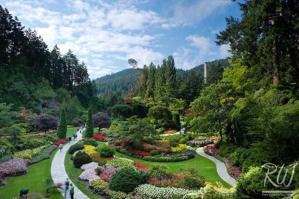 Sunken Garden Overlook at the Butchart Gardens, Brentwood Bay, Vancouver Island, B.C.