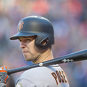 NEW YORK, NEW YORK - APRIL 30:  Buster Posey #28 of the San Francisco Giants preparing to bat during the New York Mets Vs San Francisco Giants MLB regular season game at Citi Field on April 30, 2016 in New York City. (Photo by Tim Clayton/Corbis via Getty Images)