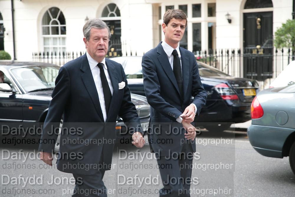 Charles Spencer-Churchill and Alexander Spencer-Churchill, Mark Birley funeral. St Paul's , Knightsbridge. London. 19 September 2007. -DO NOT ARCHIVE-© Copyright Photograph by Dafydd Jones. 248 Clapham Rd. London SW9 0PZ. Tel 0207 820 0771. www.dafjones.com.