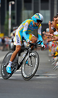 CYCLING - TOUR DE FRANCE 2010 - ROTTERDAM (NED) - 03/07/2010 - PHOTO : ELODIE FROMENT / DPPI - <br /> PROLOGUE - ROTTERDAM (NED) > ROTTERDAM (NED) - ALBERTO CONTADOR (ESP) / ASTANA