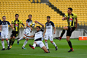 Wellington Phoenix&rsquo; Marco Rossi and Melbourne Victory&rsquo;s Rhys Willams in action during the A League - Wellington Phoenix v Melbourne Victory FC at Westpac Stadium, Wellington, New Zealand on Wednesday 10 January 2018. <br /> Photo by Masanori Udagawa. <br /> www.photowellington.photoshelter.com
