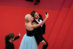 May 20, 2019, Cannes, France: - PIXIE LOTT and OLIVER CHESHIR take a 'selfie' on the red carpet for 'La Belle Epoque' on Monday at the 72nd Festival de Cannes. (Credit Image: © Terence Baelen/Starface via ZUMA Press)