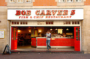 Hull, East Yorkshire..Bob Carver's fish and chip shop, Hull..Picture:Sean Spencer/hullnews.co.uk 01482 210267/07976 433960.www.hullnews.co.uk.©Sean Spencer/Hull News & Pictures Ltd.NUJ recommended terms & conditions apply. Moral rights asserted under Copyright Designs & Patents Act 1988. Credit is required. No part of this photo to be stored, reproduced, manipulated or transmitted by any means without permission. .