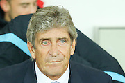 Pelligrini  during the Capital One Cup match between Sunderland and Manchester City at the Stadium Of Light, Sunderland, England on 22 September 2015. Photo by Simon Davies.