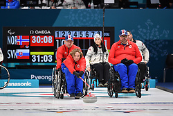 Wheelchair Curling at  the PyeongChang2018 Winter Paralympic Games, South Korea.