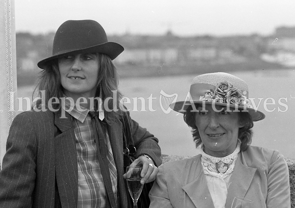 Enjoying Bloomsday on the roof of Joyce Tower at Sandycove, Dublin, 16/06/1983 (Part of the Independent Newspapers Ireland/NLI Collection).
