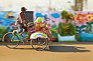 Pedicab ride in Jojakarta, Indonesia
