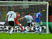 Mario Balotelli scores his team's second goal during the UEFA EURO 2012 semi final match between Germany and Italy at the National Stadium on June 28, 2012 in Warsaw, Poland.