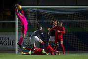 17/10/2017 - Dundee v Falkirk in the SPFL Development League at Links Park, Montrose; Dundee's Callum Ferrie
