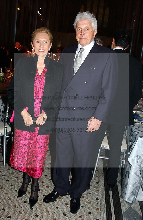 ROBERT & CHANTAL MILLER at The Magic of Winter ball in aid of the charity KIDS held at The Royal Courts of Justice, London on 2nd Ferbruary 2005.<br /><br />NON EXCLUSIVE - WORLD RIGHTS