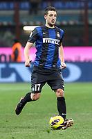 "Zdravko Kuzmanovic Inter.Milano 10/02/2013 Stadio ""San Siro"".Football Calcio Serie A 2012/13.Inter v Chievo Verona.Foto Insidefoto Paolo Nucci."