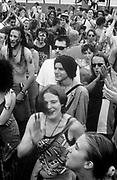 Protestors dancing on the street, Reclaim the Streets, Shepherd's Bush, London, July 1996