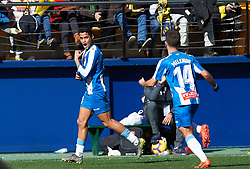 February 3, 2019 - Vila-Real, Castellon, Spain - Rosales of RCD Espanyol celebrates a goal during the La Liga match between Villarreal and Espanyol at Estadio de la Ceramica on February 3, 2019 in Vila-real, Spain. (Credit Image: © AFP7 via ZUMA Wire)