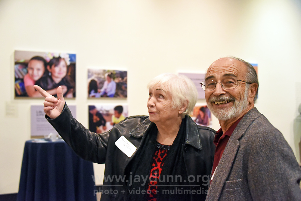 Mary Clever Da Silva and her husband Lou at the December 5th, 2017 opening of the Stories from Salinas exhibition at the CSUMB Salinas Center for Arts and Culture in Oldtown. The exhibition celebrates the mentors, youth and families of the Salinas Youth Initiative.