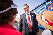 Aug 9, 2010 - SUN CITY WEST, AZ: Congressman TRENT FRANKS, (R-AZ) talks to people from his district at the Spending Revolt Bus event in Sun City West, AZ, Monday. The Spending Revolt Bus stopped in Sun City West, a retirement community northwest of Phoenix, Monday. Spending Revolt is a new coalition of taxpayers and business owners concerned about government spending. The bus is attracting Republican and Tea Party affiliated candidates to its events. The bus has crisscrossed Nevada, California and Arizona and is heading east to Washington DC.   Photo by Jack Kurtz / ZUMA Press