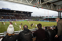 Rugby Union - 2019 / 2020 Gallagher Premiership - Saracens vs. Bristol Bears<br /> <br /> Journalists covering the game from the temporary stand, at Allianz Park.<br /> <br /> COLORSPORT/ASHLEY WESTERN