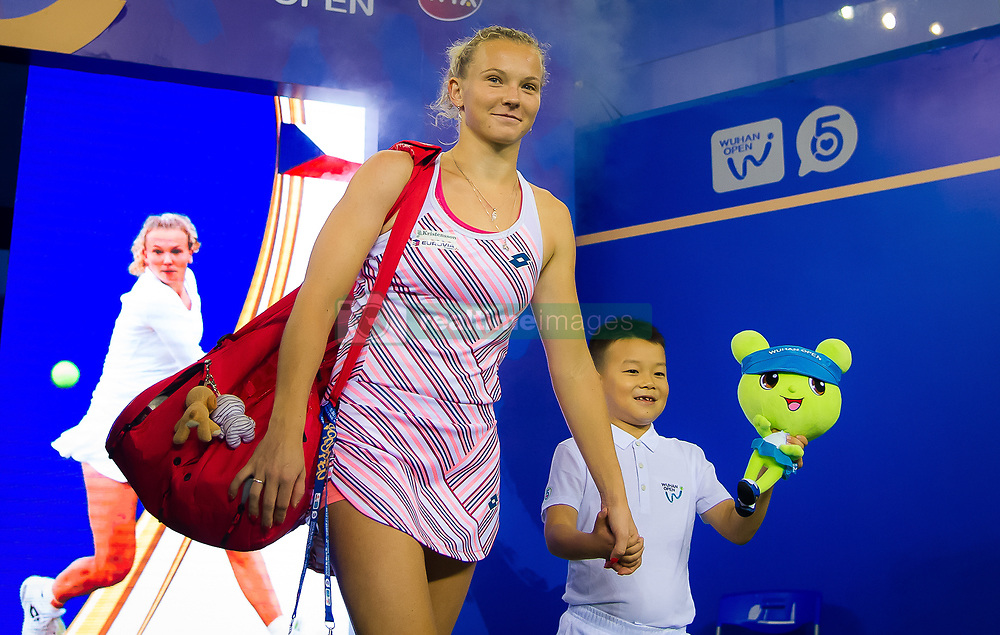September 26, 2018 - Katerina Siniakova of the Czech Republic walks onto the court for her third-round match at the 2018 Dongfeng Motor Wuhan Open WTA Premier 5 tennis tournament (Credit Image: © AFP7 via ZUMA Wire)