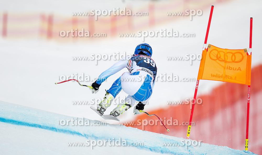 20.01.2015, Streif, Kitzbuehel, AUT, FIS Ski Weltcup, Abfahrt, Herren, 1. Training, im Bild Jared Goldberg (USA) // Jared Goldberg of the USA in action during first practice run for the mens Downhill of Kitzbuehel FIS Ski Alpine World Cup at the Streif Course in Kitzbuehel, Austria on 2015/01/20. EXPA Pictures © 2015, PhotoCredit: EXPA/ Johann Groder