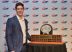 2015-16 BRP Top Prospect Award recipient Pierre-Luc Dubois at the ENMAX Centrium in Red Deer, Alberta on Saturday May 28, 2016. Photo by Terry Wilson / CHL Images.
