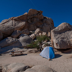 Tent Camping, Hidden Valley Campground, Joshua Tree National Park, California