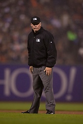 SAN FRANCISCO, CA - MAY 20:  MLB umpire Ted Barrett #65 stands on the field during the seventh inning between the San Francisco Giants and the Los Angeles Dodgers at AT&T Park on May 20, 2015 in San Francisco, California.  The San Francisco Giants defeated the Los Angeles Dodgers 4-0. (Photo by Jason O. Watson/Getty Images) *** Local Caption *** Ted Barrett