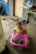 Toddler in farm house