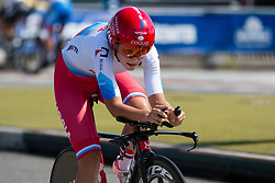 PLIASKINA Anastasiia from RUSSIAN FEDERATION during Women Elite Time Trial at 2019 UEC European Road Championships, Alkmaar, The Netherlands, 8 August 2019. <br /> <br /> Photo by Pim Nijland / PelotonPhotos.com <br /> <br /> All photos usage must carry mandatory copyright credit (Peloton Photos | Pim Nijland)