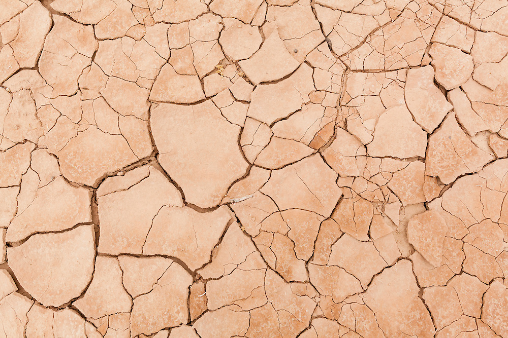 Cracks in drying mud during drought. Israel.