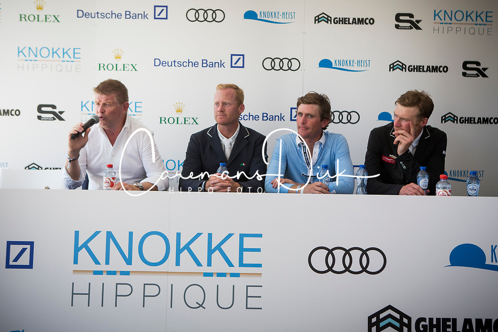 Conter Stephan, Bruynseels Niels, Darragh Kenny, Whitaker William, <br /> Knokke Hippique 2018<br /> © Hippo Foto - Sharon Vandeput<br /> 1/07/18