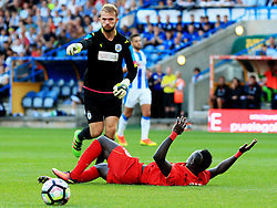 Joel Coleman of Huddersfield Town points the ball after fouling Sadio Mane of Liverpool  - Mandatory by-line: Matt McNulty/JMP - 20/07/2016 - FOOTBALL - John Smith's Stadium - Huddersfield, England - Huddersfield Town v Liverpool - Pre-season friendly
