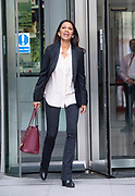 The Andrew Marr Show <br /> at the BBC, Broadcasting House, London, Great Britain <br /> 9th September 2018 <br /> <br /> Gina Miller<br /> businesswoman and campaigner<br /> Leaving the BBC after reading the newspapers on the Marr Show <br /> <br /> <br /> <br /> Photograph by Elliott Franks