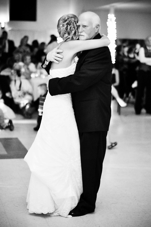 Abby & her dad dance together, White House Baquet Hall, Richland Center, WI