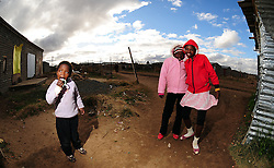Locals in Rocklands a Township outside of Bloemfontein South Africa on 23 June 2009, during the 2009 Confederations cup in South Africa. Photo:Gerhard Steenkamp/Superimage Media