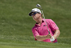 May 26, 2018 - Fort Worth, TX, USA - FORT WORTH, TX - MAY 26, 2018 - Charley Hoffman hits out of the sand trap on the 16th hole during the third round of the 2018 Fort Worth Invitational PGA at Colonial Country Club in Fort Worth, Texas (Credit Image: © Erich Schlegel via ZUMA Wire)