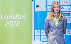 Tina Sutej during presentation of Slovenian Olympic and Paralympic team for London 2012, on July 6, 2012 in Ljubljana's Castle, Ljubljana, Slovenia.  (Photo by Vid Ponikvar / Sportida.com)