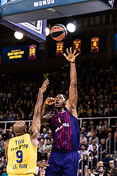 November 1, 2018 - Barcelona, Barcelona, Spain - Kevin Seraphin, #1 of FC Barcelona Lassa in actions during EuroLeague match between FC Barcelona Lassa and Maccabi Fox Tel Aviv  on November 01, 2018 at Palau Blaugrana, in Barcelona, Spain. (Credit Image: © AFP7 via ZUMA Wire)