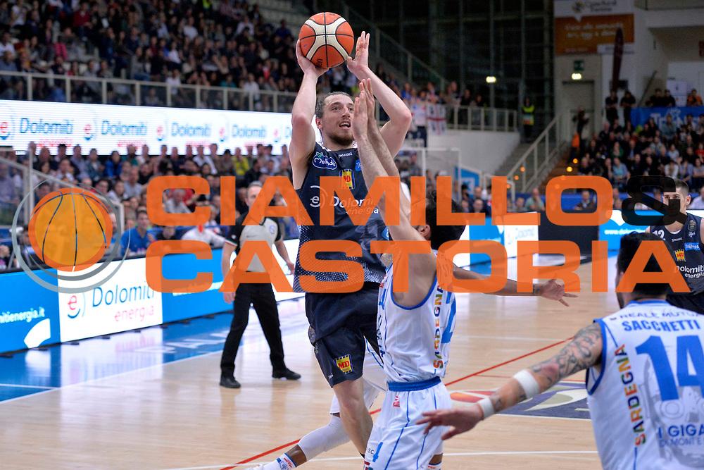 Andres Pablo Toto Forray<br /> Dolomiti Energia Aquila Basket Trento - Banco di Sardegna Dinamo Sassari<br /> Lega Basket Serie A 2016/2017<br /> Trento, 08/04/2017<br /> Foto Ciamillo - Castoria