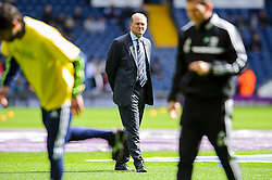 Manager Pepe Mel (ESP) of West Brom looks on as his players warm up before the match - Photo mandatory by-line: Rogan Thomson/JMP - 07966 386802 - 12/04/2014 - SPORT - FOOTBALL - The Hawthorns Stadium - West Bromwich Albion v Tottenham Hotspur - Barclays Premier League.