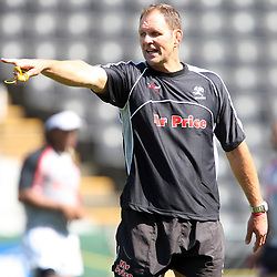 John Plumtree Head Coach<br /> is pictured during the Sharks training session at the Absa Stadium on October 15th, 2009 in Durban, South Africa. The Sharks will play Free State Cheetahs in the Absa Currie Cup semi-final match on Saturday, October 17, 2009. Photo by Steve Haag / Gallo Images
