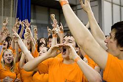 Solski center Novo mesto na razglasitvi po finalni kosarkarski tekmi med Solskim centrom Celje in Gimnazijo Sentvid na zakljucku SKL 2010, on April 14, 2010, in Hala Tivoli, Ljubljana, Slovenia.  (Photo by Vid Ponikvar / Sportida)