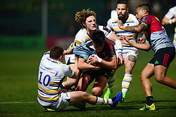 Marcus Smth of Harlequins is tackled by Duncan Weir of Worcester Warriors - Mandatory by-line: Dougie Allward/JMP - 30/03/2019 - RUGBY - Sixways Stadium - Worcester, England - Worcester Warriors v Harlequins - European Challenge Cup quarter-final