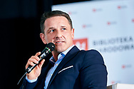 Warsaw, Poland - 2017 April 07: Tomasz Boruc - World Champion in Kyokushin Karate and Health Manager speaks while The Day of Health - science conference in the National Library on April 07, 2017 in Warsaw, Poland.<br /> <br /> Mandatory credit:<br /> Photo by © © Adam Nurkiewicz / Mediasport / Mediasport<br /> <br /> Picture also available in RAW (NEF) or TIFF format on special request.<br /> <br /> Any editorial, commercial or promotional use requires written permission from the author of image.<br /> <br /> Adam Nurkiewicz declares that he has no rights to the image of people at the photographs of his authorship.