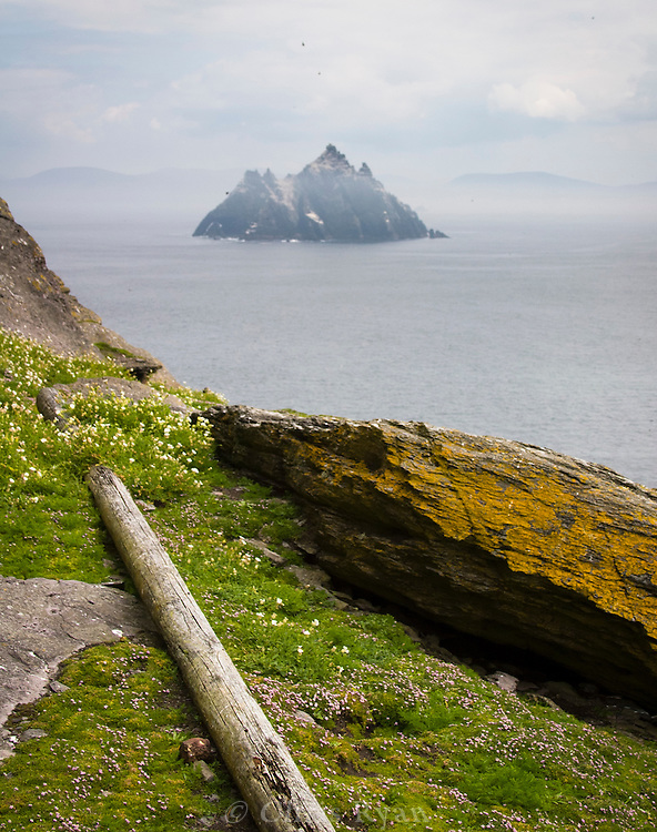 View from Skellig Michael out to Little Skellig, County Kerry, Ireland