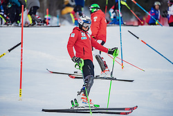 """29.01.2019, Planai, Schladming, AUT, FIS Weltcup Ski Alpin, Slalom, Herren, Streckenbesichtigung, im Bild Henrik Kristoffersen (NOR) // Henrik Kristoffersen of Norway during course inspection for the men's Slalom """"the Nightrace"""" of FIS ski alpine world cup at the Planai in Schladming, Austria on 2019/01/29. EXPA Pictures © 2019, PhotoCredit: EXPA/ Dominik Angerer"""