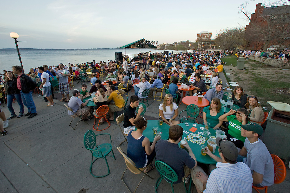 A late afternoon at Memorial Union Terrace on the campus of the University of Wisconsin-Madison. (Photo @ Andy Manis)