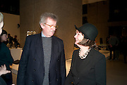SIR CHRISTOPHER FRAYLING; LADY HELEN FRAYLING, Ron Arad; Restless. Cocktail reception hosted by Kate Bush of the Barbican and Tony Chambers of Wallpaper magazine. Barbican art Gallery. London. 17 September 2010